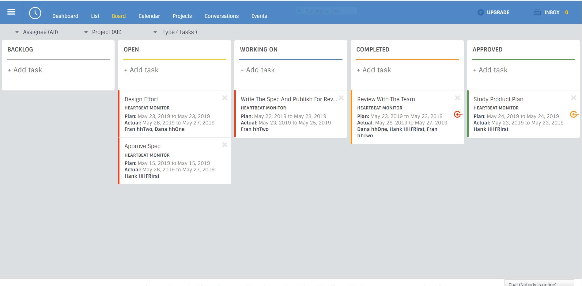 work management software board